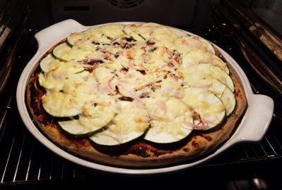 White Lady im Ofen mit Zucchini